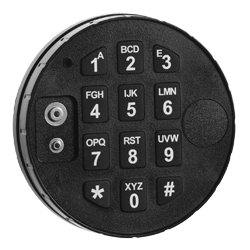 trezorová elektronická klávesnice černá