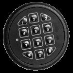zapuštěná trezorová elektronická klávesnice ST4015